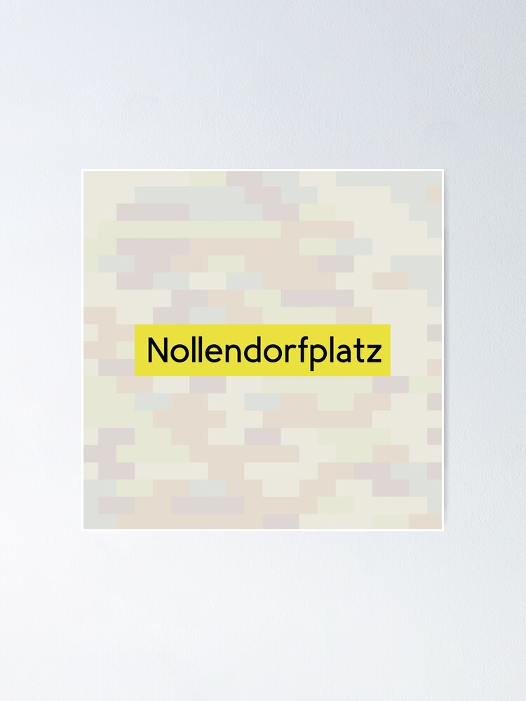 Alternate view of Nollendorfplatz Station Tiles (Berlin) Poster