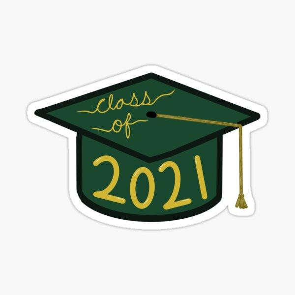 Clase Senior de 2021 - Grad Cap Pegatina