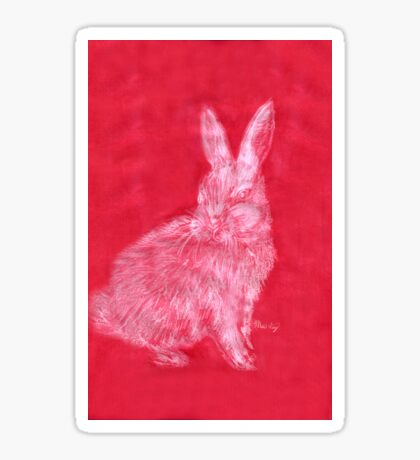 White Rabbit (Monochromatic Hue Series) Sticker