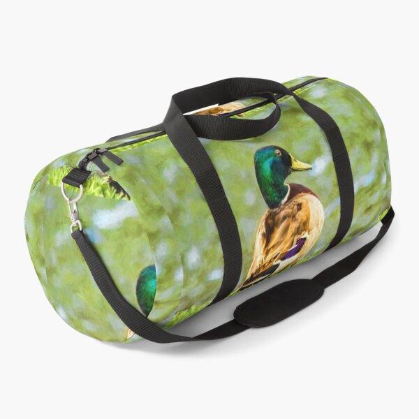 Male Mallard Bokeh Duffle Bag