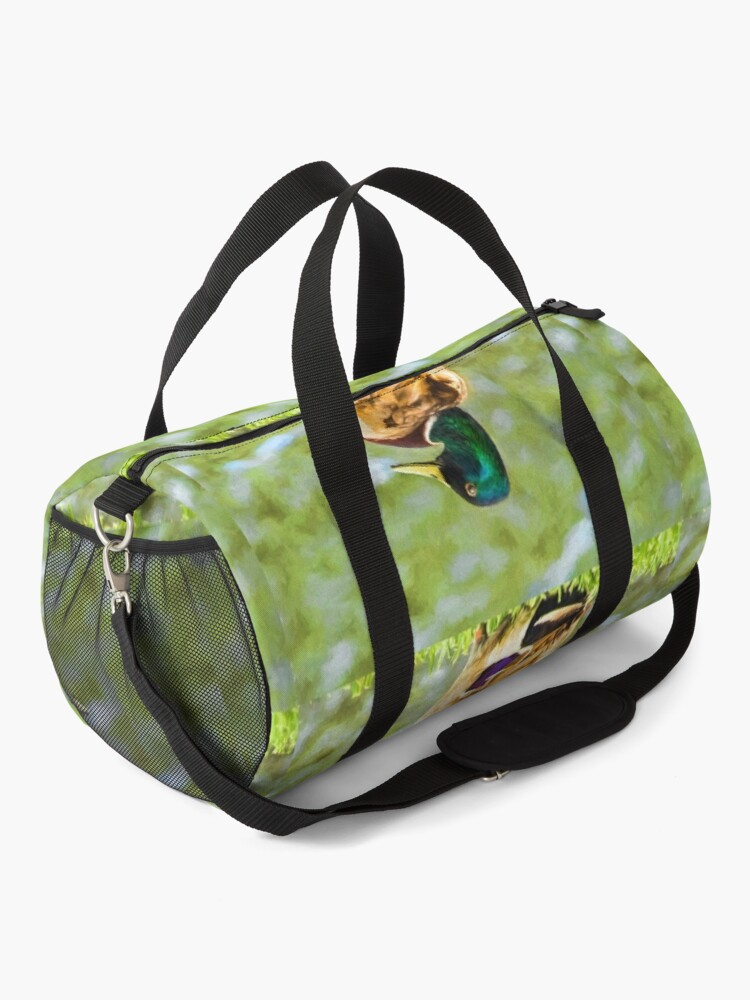 Alternate view of Male Mallard Bokeh Duffle Bag