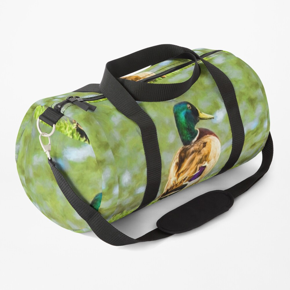 Male Mallard Bokeh Duffle Bag
