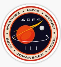 """Martian"" Ares III Patch Sticker"