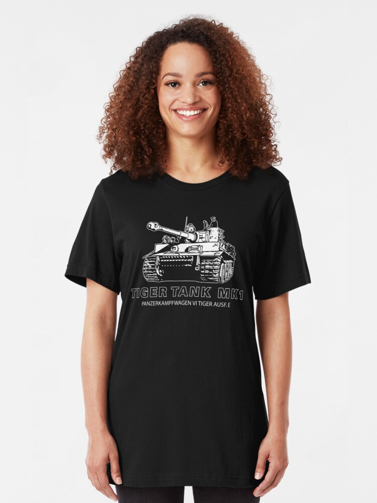 Alternate view of Tiger Tank Mark 1 Slim Fit T-Shirt