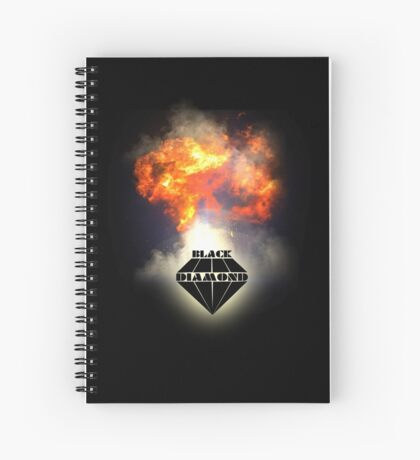Black Diamond logo Spiral Notebook