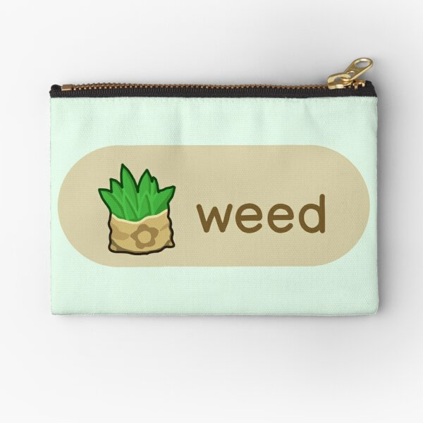 Animal Crossing Weed Zipper Pouch