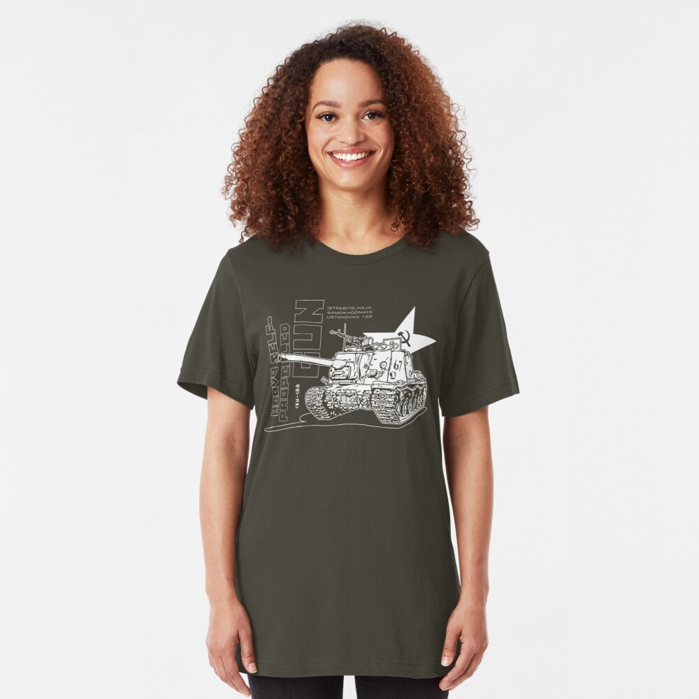 ISU-122 Self-Propelled Gun Slim Fit T-Shirt