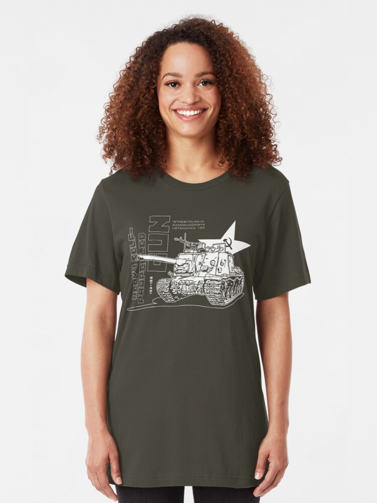 Alternate view of ISU-122 Self-Propelled Gun Slim Fit T-Shirt