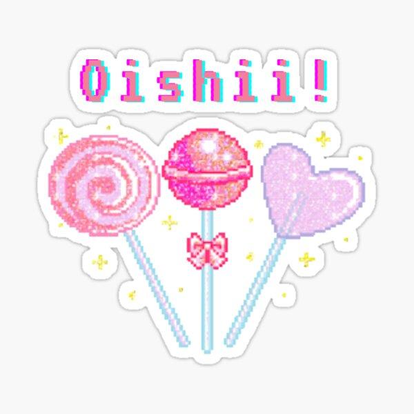 Kawaii Pixel Oishii Dream Lollipop Sticker