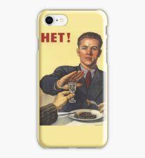Soviet Poster: Hет! iPhone Case/Skin