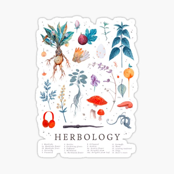 Herbologie plantes Harry Sticker