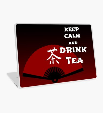 Keep Calm and Drink Tea - dark asia edition Laptop Skin