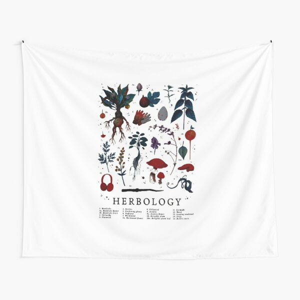 Herbology Harry Plant Tapestry