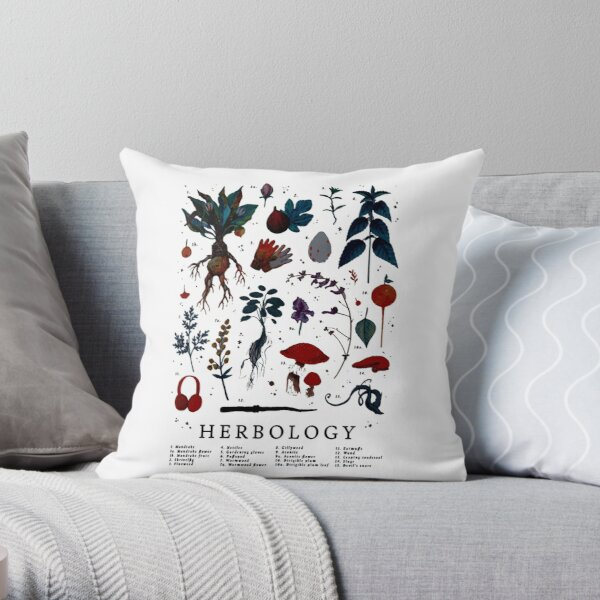 Herbologie Harry Plant Coussin