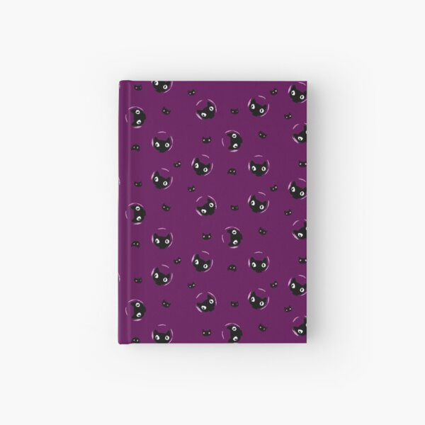 Space Cat on Purple Hardcover Journal