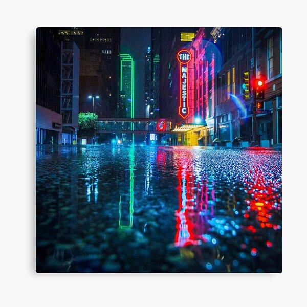 Downtown Dallas in the Rain Canvas Print