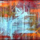 Colorful Wood Grain Modern Abstract Art by Nhan Ngo