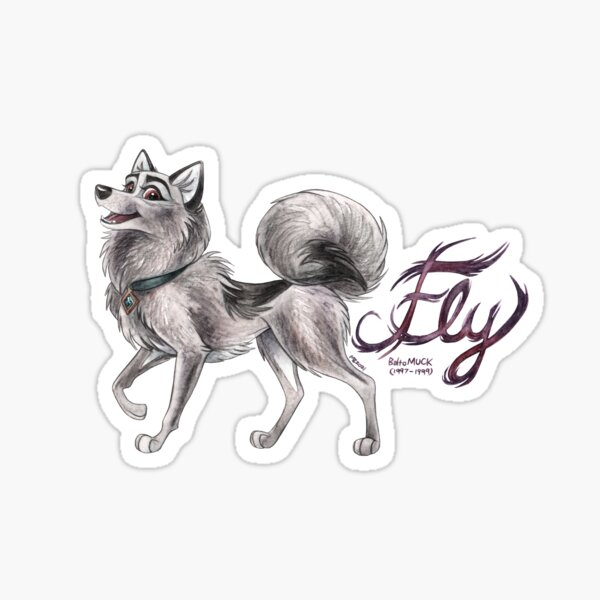 Fly (with text) Sticker