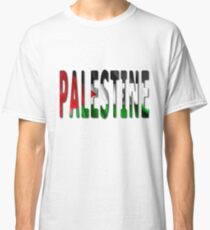 Palestine Word With Flag Texture Classic T-Shirt
