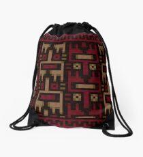 Yume nikki pattern Drawstring Bag