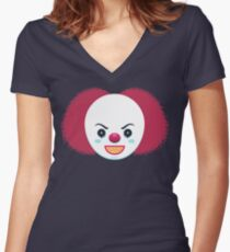Pennywise the Dancing Clown Women's Fitted V-Neck T-Shirt