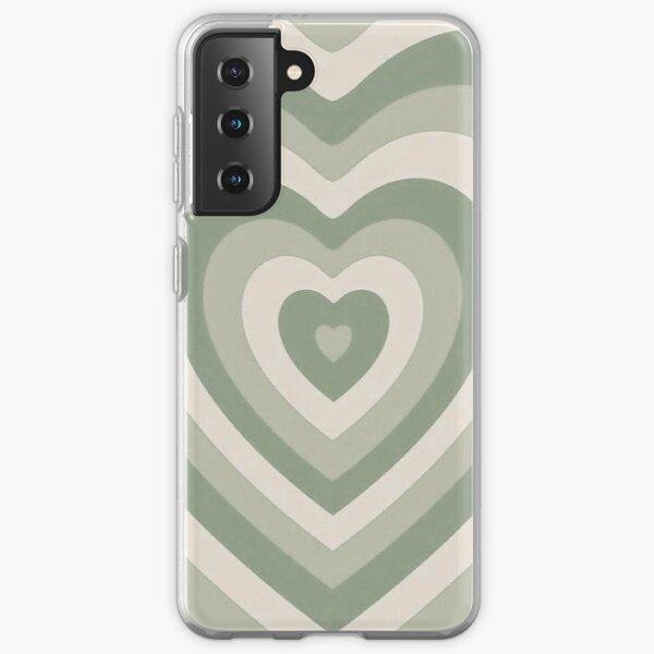 sage green latte heart Samsung Galaxy Soft Case