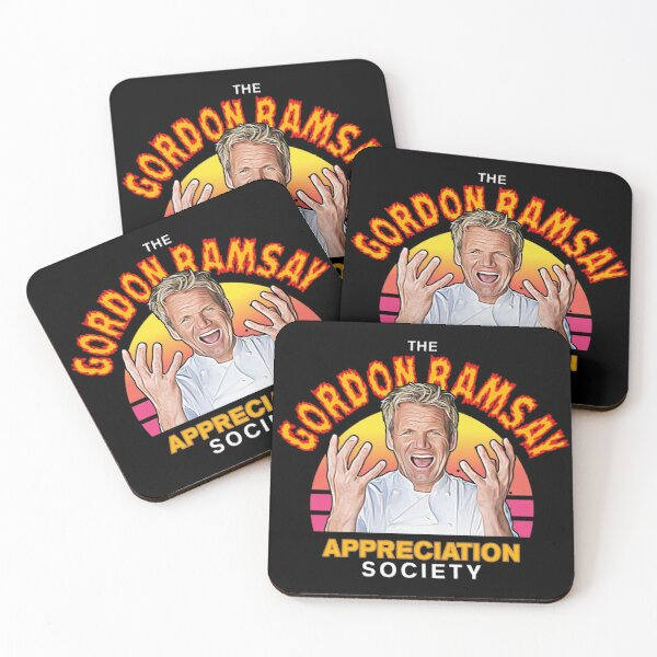 Funny Gordon Ramsay Appreciation Society Fan Coasters (Set of 4)