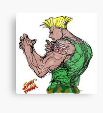 Streetfighter 2 Guile Metal Print