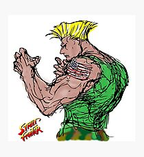 Streetfighter 2 Guile Photographic Print