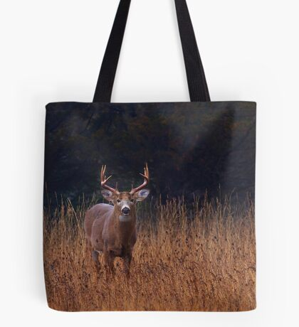 In Autumns Fields - White-tailed deer Buck Tote Bag