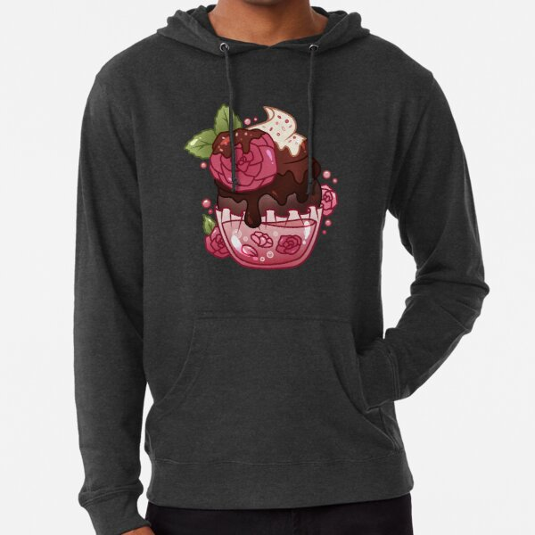 Rose Chocolate Cupcake Lightweight Hoodie