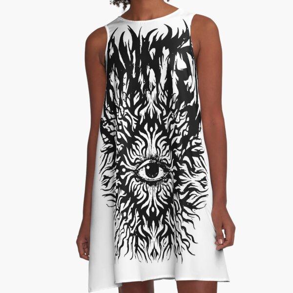 HAUNTED EYES A-Line Dress