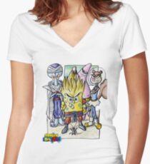 Dragonball Bob Z Women's Fitted V-Neck T-Shirt