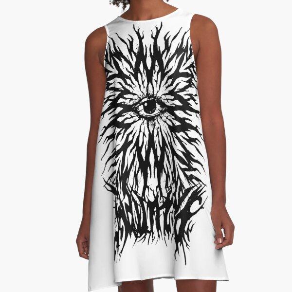 HAUNTED EYEZ A-Line Dress