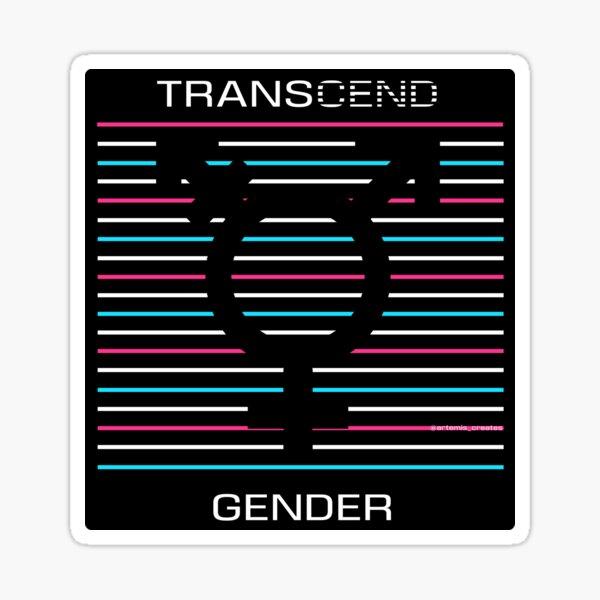 Transcend Gender Silhouette Sticker