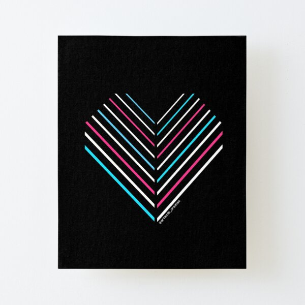 Neon Trans Heart Canvas Mounted Print