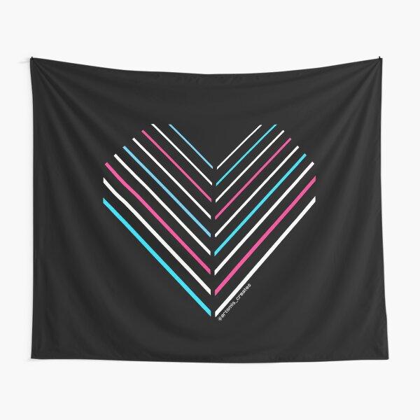 Neon Trans Heart Tapestry