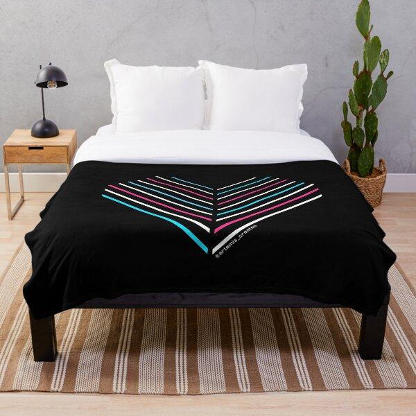 Neon Trans Heart Throw Blanket