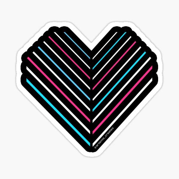 Neon Trans Heart Sticker
