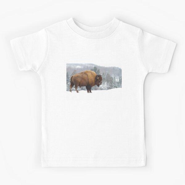 Buffalo in Winter Kids T-Shirt