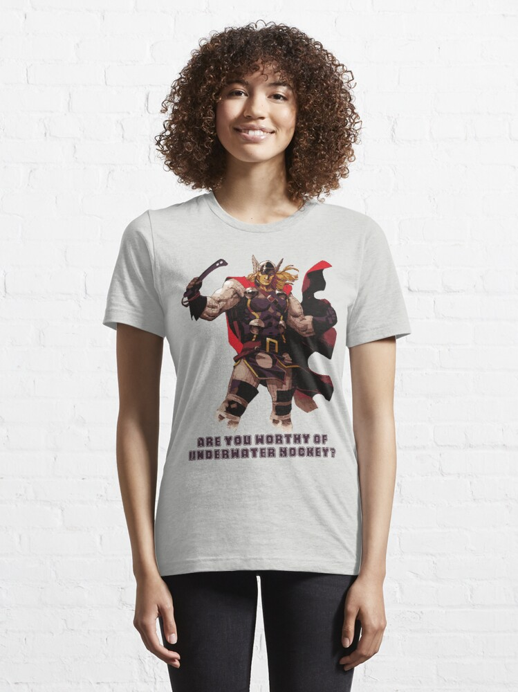 Alternate view of Underwater Hockey Thor Are You Worthy Essential T-Shirt