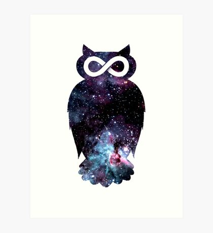 Super Cosmic Owlfinity Art Print