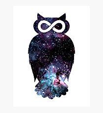 Super Cosmic Owlfinity Photographic Print