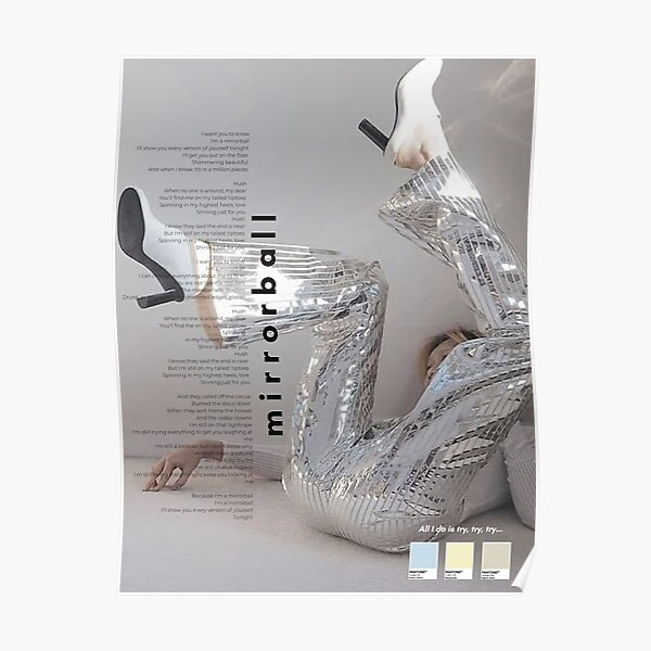 Mirrorball Taylor Swift Poster Folklore Poster