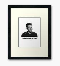 Sad Ben Affleck Framed Print