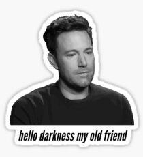 Sad Ben Affleck Sticker