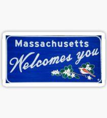 Massachusetts Welcomes you  Sticker