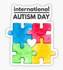 International Autism day Sticker