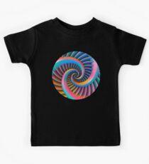 Opposing Spiral Pattern in 3-D Kids Tee