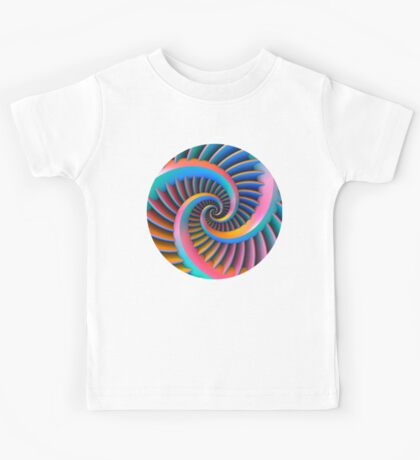 Opposing Spiral Pattern in 3-D Kids Clothes